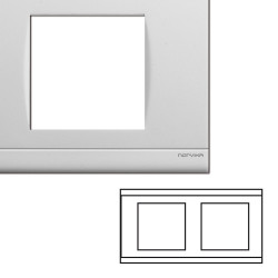 Plaque double horizontale blanche