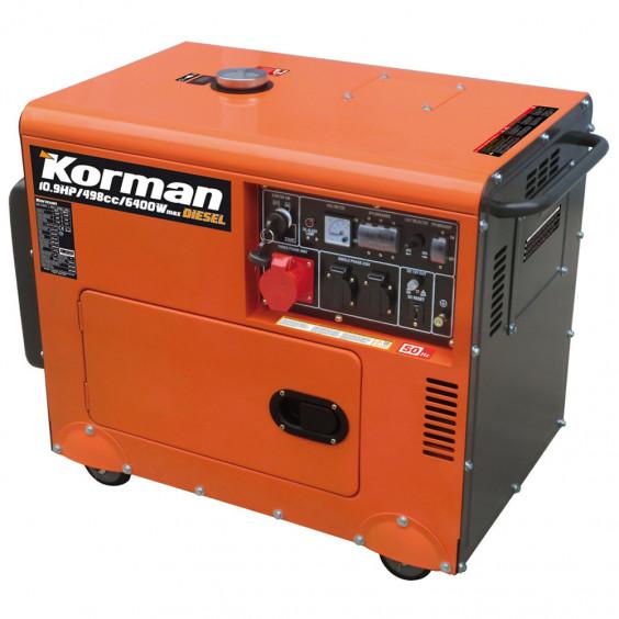 Groupe électrogène Diesel 6400W