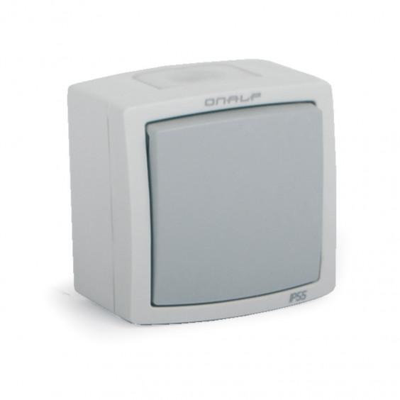 Interrupteur Poussoir Etanche Extérieur IP55 Encastré ou Saillie ONALP