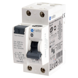 Interrupteur différentiel 1P+N 3kA, 40A type AC