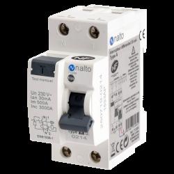 Interrupteur différentiel 1P+N 30mA, 63A type A