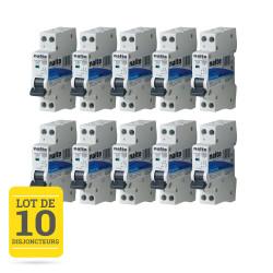 Lot de 10 disjoncteurs 10A 1P+N CE NALTO