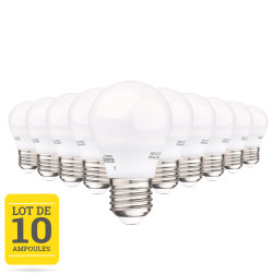 Lot de 10 ampoules LED E27 5W blanc chaud