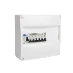 Tableau électrique pré-équipé NALTO 1 rangée 1 ID + 6 disjoncteurs