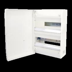 Tableau électrique vide 2 rangées 26 modules Avec Porte  Rail Amovible NF NALTO