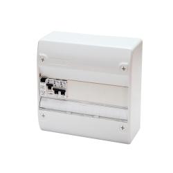 Tableau Électrique Pré Câblé 1 rangée idéal Extension 1ID + 2 Disjoncteurs NF NALTO