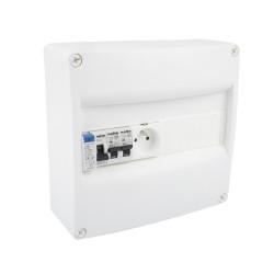 Tableau Électrique Pré Équipé 1 rangée 1 ID 40A + 2 Disjoncteurs + 1 Prise modulaireNALTO