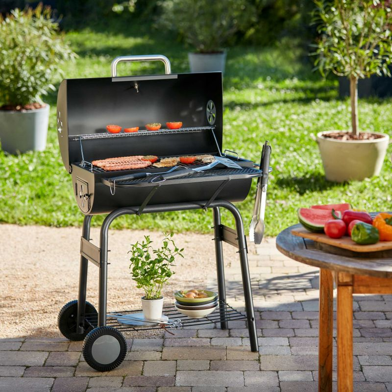 Pack Barbecue Charbon 40x70 cm, Brochettes et Ustensiles ROSTER