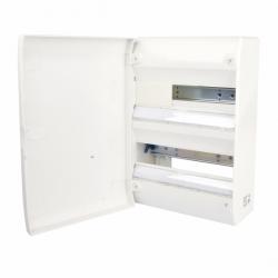 Tableau électrique vide 2 rangées 26 modules Rail Amovible NF NALTO + Porte