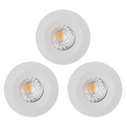 Lot de 3 Spots à encastrer LED COB salle de bain 10W  étanche IP65 blanc