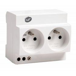 Double prise modulaire 2P+T 16A - 230V NALTO